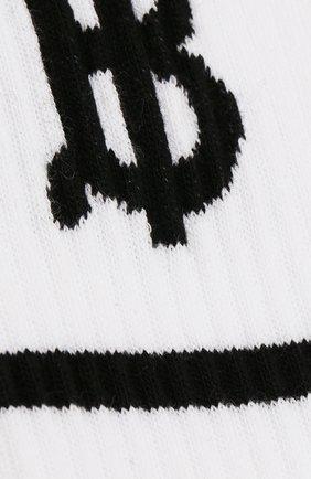 Мужские хлопковые носки BURBERRY белого цвета, арт. 8012108 | Фото 2