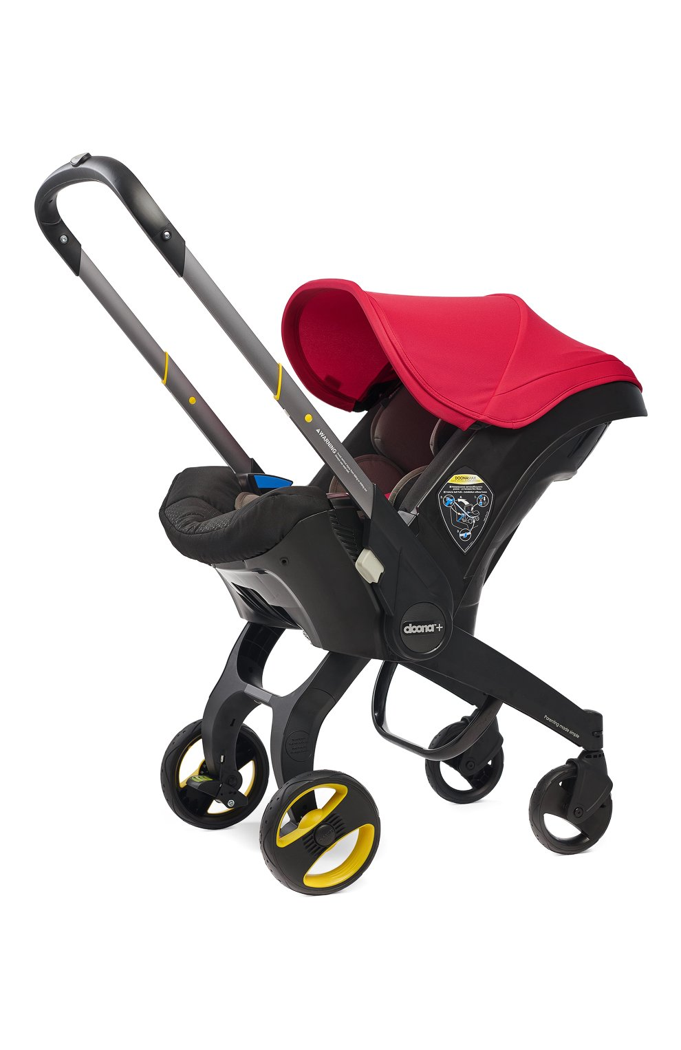 Детская коляска-автокресло doona+ SIMPLE PARENTING красного цвета, арт. SP150-20-031-015 | Фото 1 (Статус проверки: Проверена категория; Ограничения доставки: oversized)