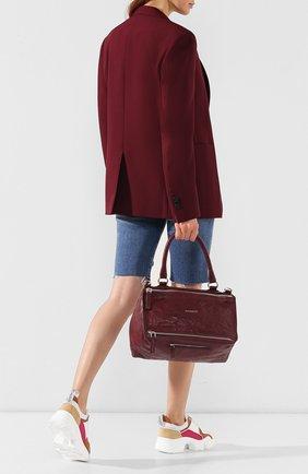 Женская сумка pandora medium GIVENCHY фиолетового цвета, арт. BB05250004 | Фото 2