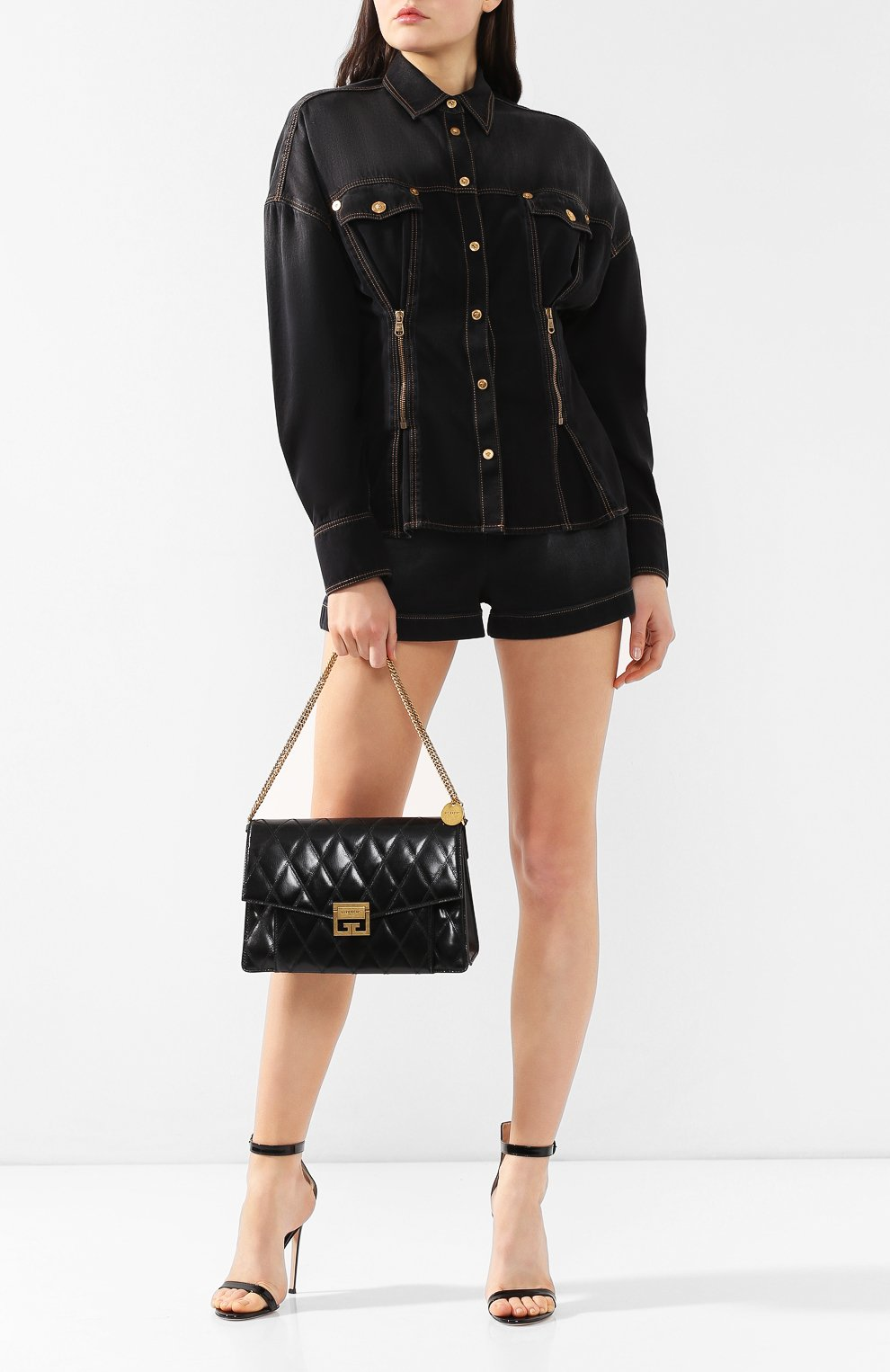 Сумка GV3 medium Givenchy черная цвета   Фото №2