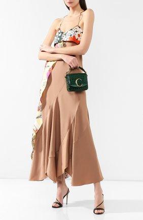 Женская сумка chloé c mini CHLOÉ зеленого цвета, арт. CHC19US193A87   Фото 2