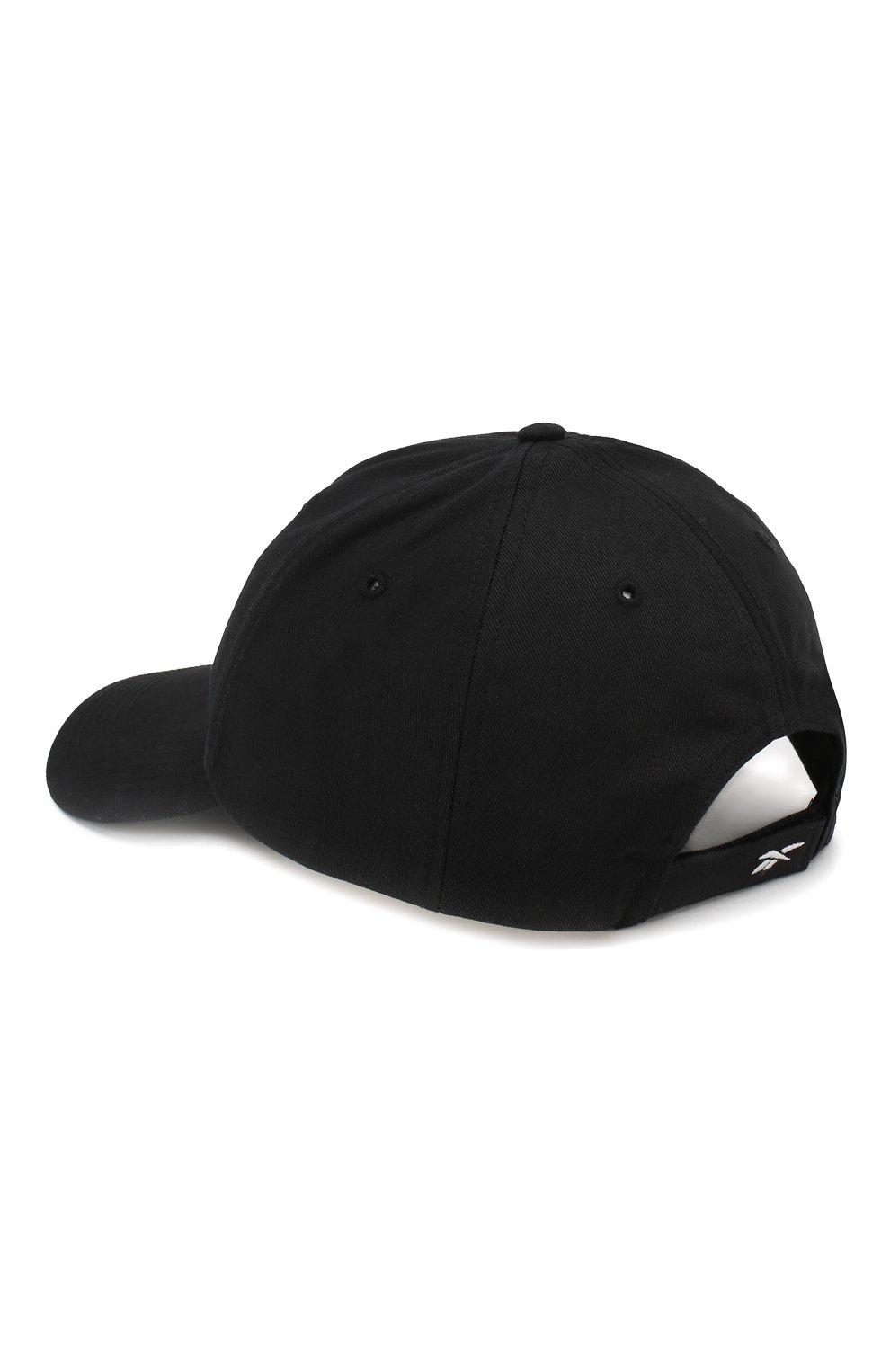 Хлопковая бейсболка Vetements черного цвета | Фото №2