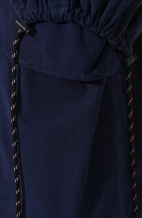 Женская хлопковая юбка DRIES VAN NOTEN синего цвета, арт. 191-10817-7287   Фото 5 (Материал внешний: Хлопок; Длина Ж (юбки, платья, шорты): Миди; Статус проверки: Проверено)