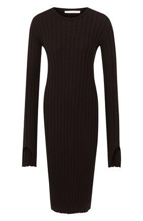 Женское шерстяное платье HELMUT LANG коричневого цвета, арт. J01HW704 | Фото 1
