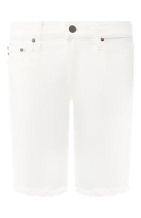Женские джинсовые шорты AG белого цвета, арт. DSD1604FH/01YTWT | Фото 1