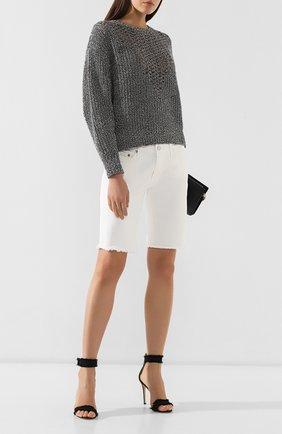 Женские джинсовые шорты AG белого цвета, арт. DSD1604FH/01YTWT | Фото 2