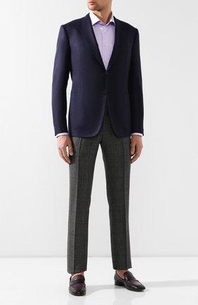 Мужская хлопковая сорочка ETON сиреневого цвета, арт. 3441 79011 | Фото 2