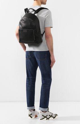 Мужской кожаный рюкзак ZEGNA COUTURE черного цвета, арт. C1390P-HPT | Фото 2