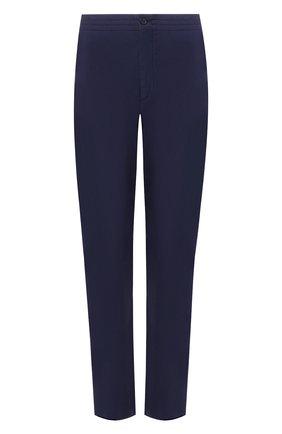 Мужской хлопковые брюки ERMENEGILDO ZEGNA темно-синего цвета, арт. USI16/TT11 | Фото 1