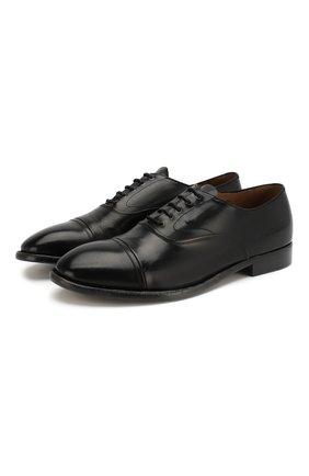 Мужские кожаные оксфорды SILVANO SASSETTI черного цвета, арт. S19827XW06DDIVINER. | Фото 1