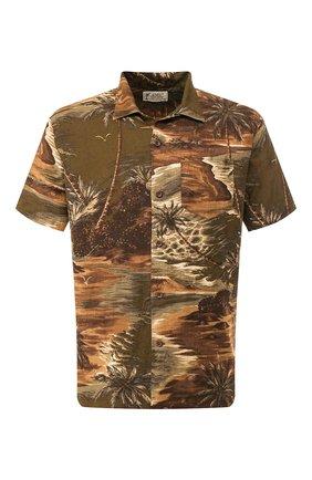 Мужская рубашка из смеси льна и вискозы RRL разноцветного цвета, арт. 782733268 | Фото 1