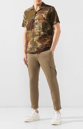 Мужская рубашка из смеси льна и вискозы RRL разноцветного цвета, арт. 782733268 | Фото 2