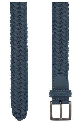 Мужской кожаный ремень LORO PIANA синего цвета, арт. FAI5647 | Фото 2
