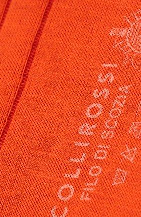 Мужские хлопковые носки COLLIROSSI оранжевого цвета, арт. UC4020-20/1 | Фото 2