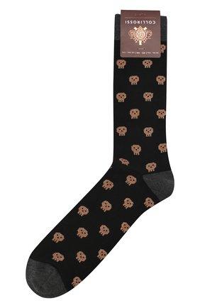 Мужские хлопковые носки COLLIROSSI черного цвета, арт. UFE4050-36/1 | Фото 1