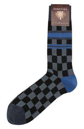 Мужские хлопковые носки COLLIROSSI темно-синего цвета, арт. UFE4050-31/1 | Фото 1
