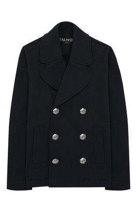 Двубортный пиджак из хлопка | Фото №1
