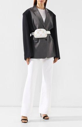 Женская поясная сумка signature CHLOÉ белого цвета, арт. CHC19SS121A56   Фото 2