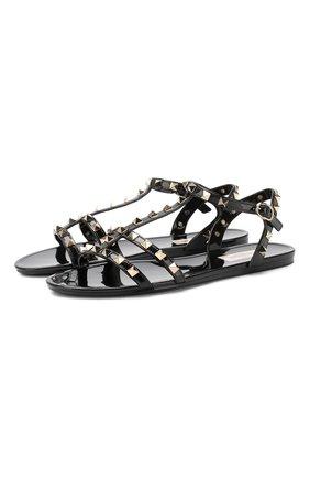 Резиновые сандалии Valentino Garavani Rockstud | Фото №1