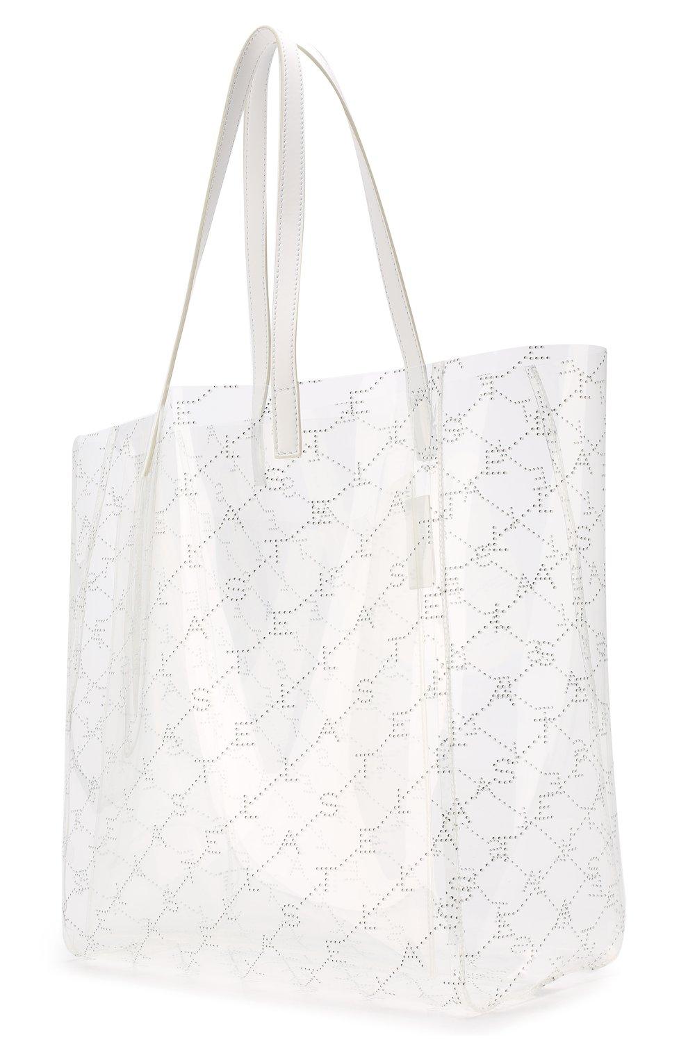 Женская сумка-тоут monogram  STELLA MCCARTNEY прозрачного цвета, арт. 541619/W8464 | Фото 3