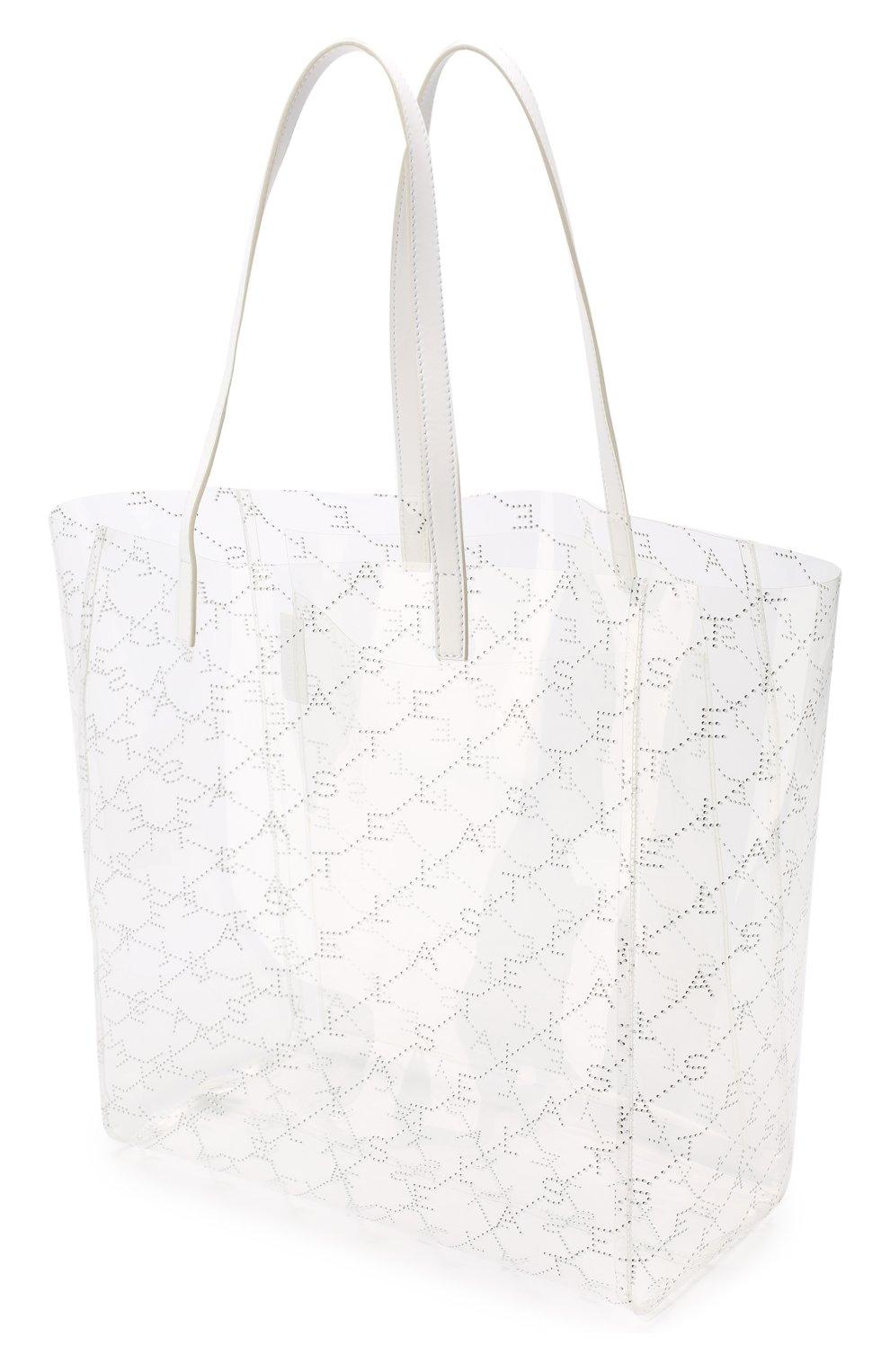 Женская сумка-тоут monogram  STELLA MCCARTNEY прозрачного цвета, арт. 541619/W8464 | Фото 4