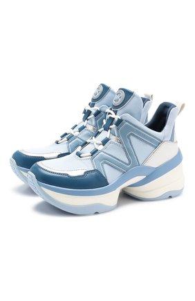 Комбинированные кроссовки Olympia | Фото №1