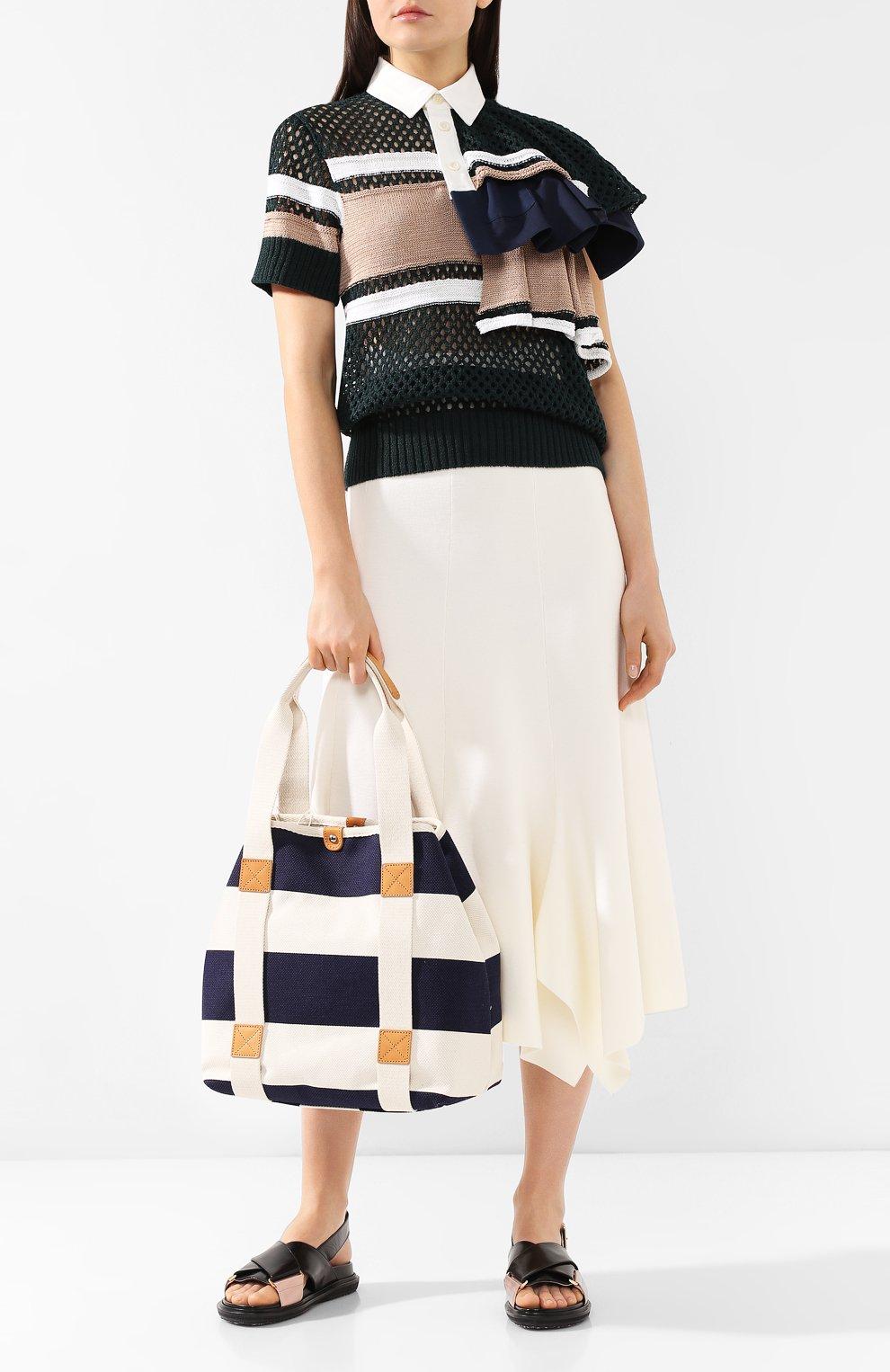 Женская текстильная сумка BONFANTI синего цвета, арт. 641898/NAVY   Фото 2 (Материал: Текстиль; Статус проверки: Проверена категория; Размер: large)