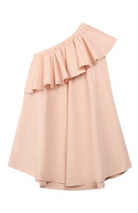 Хлопковое платье на одно плечо | Фото №1