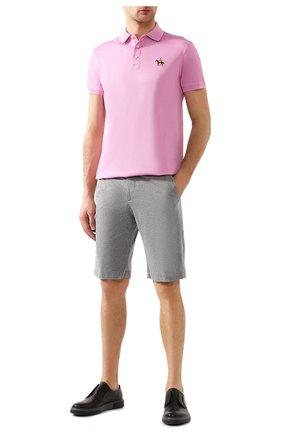 Мужское хлопковое поло RALPH LAUREN розового цвета, арт. 790508036 | Фото 2