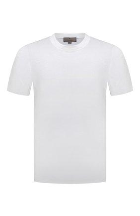 Мужская хлопковая футболка CANALI белого цвета, арт. T0356/MJ00002 | Фото 1