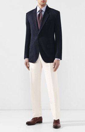 Мужская хлопковая рубашка  TOM FORD голубого цвета, арт. 5FT608/94S1JE | Фото 2