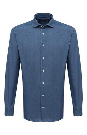 Мужская хлопковая рубашка  ETON синего цвета, арт. 9800 84580 | Фото 1