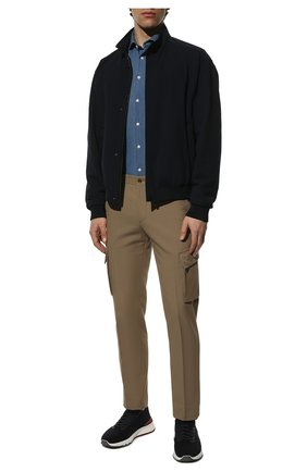 Мужская хлопковая рубашка  ETON синего цвета, арт. 9800 84580 | Фото 2