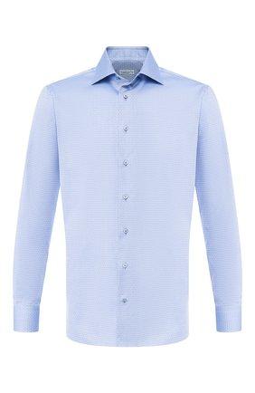 Мужская хлопковая рубашка  ZILLI синего цвета, арт. MFR-MERCU-01076/RZ02 | Фото 1