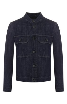 Мужская джинсовая куртка GIORGIO ARMANI синего цвета, арт. 3GSB67/SDP5Z | Фото 1