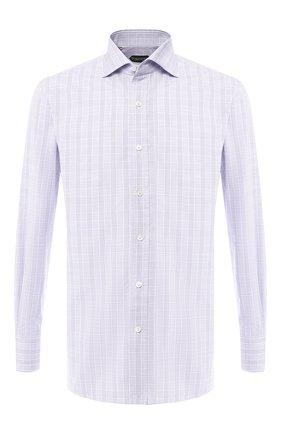 Мужская хлопковая рубашка  TOM FORD сиреневого цвета, арт. 5FT150/94C1AX | Фото 1