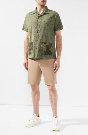 Мужская хлопковая рубашка  RRL хаки цвета, арт. 782733257 | Фото 2