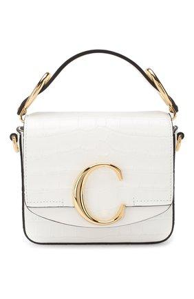 Женская сумка chloé c mini CHLOÉ белого цвета, арт. CHC19US193A87 | Фото 1