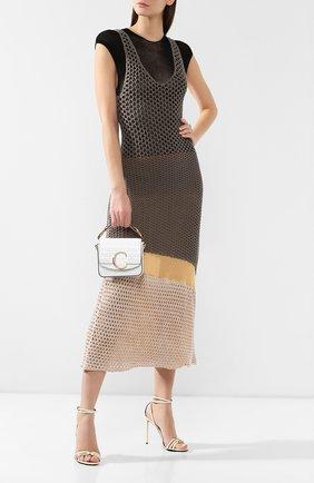 Женская сумка chloé c mini CHLOÉ белого цвета, арт. CHC19US193A87 | Фото 2