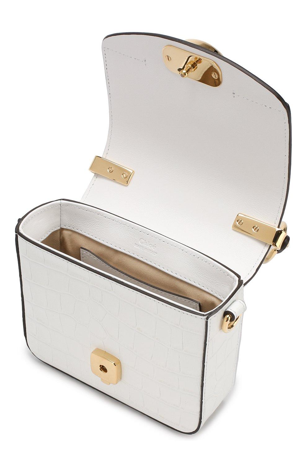 Женская сумка chloé c mini CHLOÉ белого цвета, арт. CHC19US193A87 | Фото 4