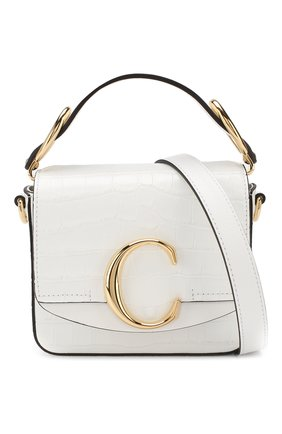 Женская сумка chloé c mini CHLOÉ белого цвета, арт. CHC19US193A87 | Фото 6