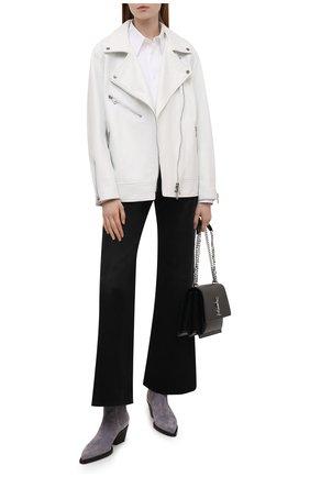 Женская кожаная куртка MASLOV белого цвета, арт. SMW101 | Фото 2