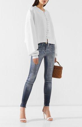 Женские кожаные брюки JITROIS голубого цвета, арт. PANTS WYNN AGNEAU STRETCH HALLU ST0NE-WASHED | Фото 2