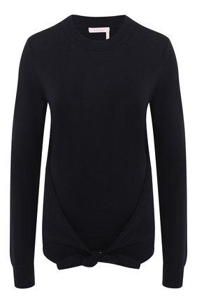 Пуловер из смеси шерсти и хлопка   Фото №1