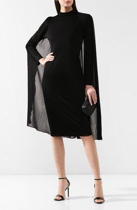 Женское платье из вискозы TOM FORD черного цвета, арт. ABJ247-FAX483 | Фото 2 (Рукава: Длинные; Длина Ж (юбки, платья, шорты): До колена, Миди)
