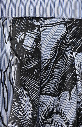 Женская хлопковая юбка JW ANDERSON голубого цвета, арт. SK04519A 620/836   Фото 5 (Материал внешний: Хлопок; Длина Ж (юбки, платья, шорты): Миди; Статус проверки: Проверена категория)