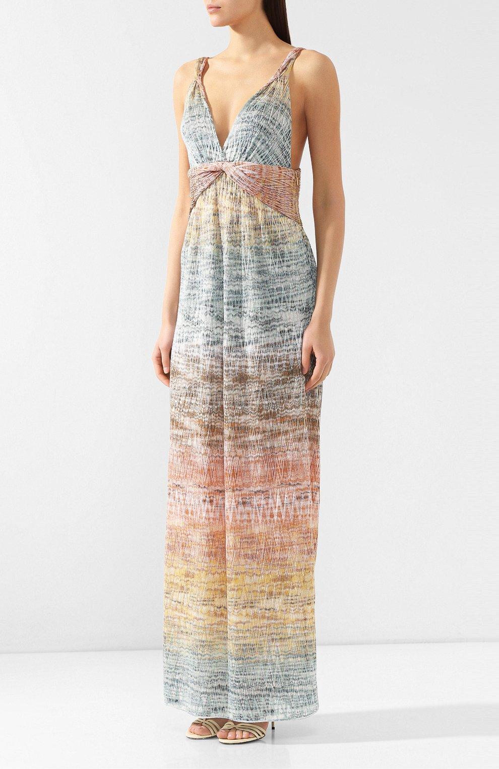 Платье-макси Missoni разноцветное | Фото №3