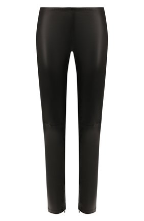 Женские кожаные брюки RALPH LAUREN черного цвета, арт. 290618854 | Фото 1