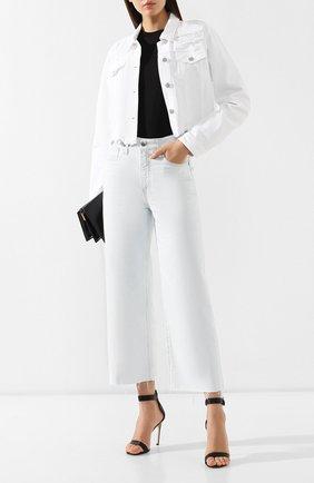Женские укороченные джинсы AG белого цвета, арт. LGN1827RH/RMIT | Фото 2