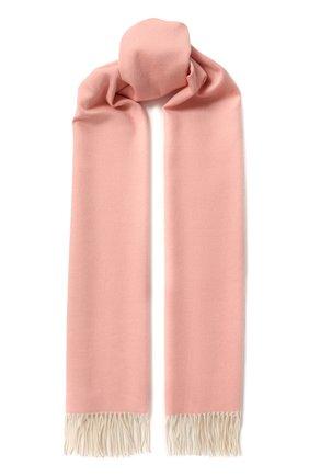 Кашемировый шарф Two-Tone Loro Piana светло-розовый | Фото №1